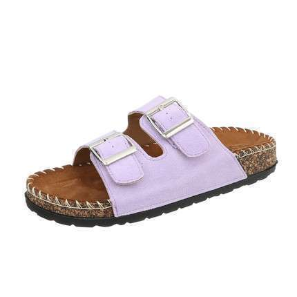 Damen Flache Sandalen - purple