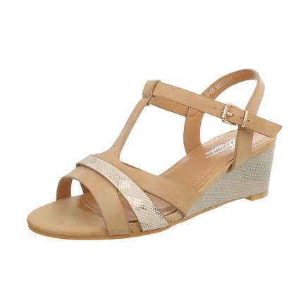 Damen Wedges - apricot