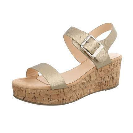 Damen Wedges - L.gold