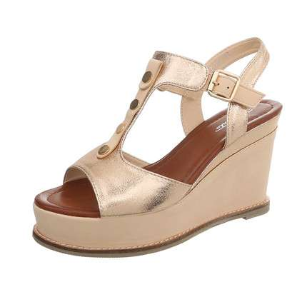 Damen Wedges - champagnb