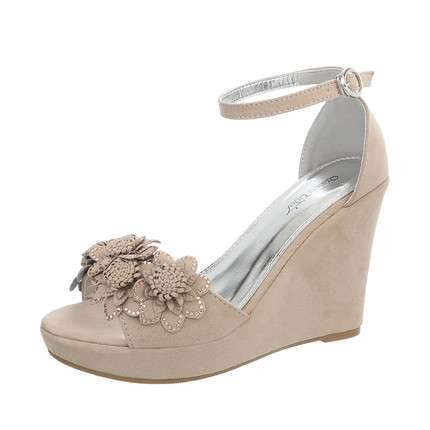 Damen Wedges - beige
