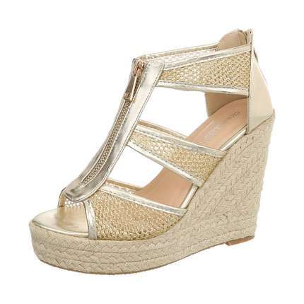 Damen Wedges - gold