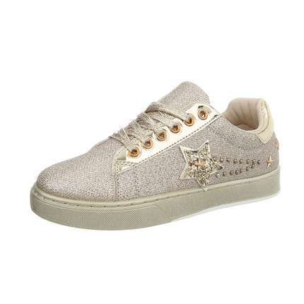 Damen Sneakers low - gold