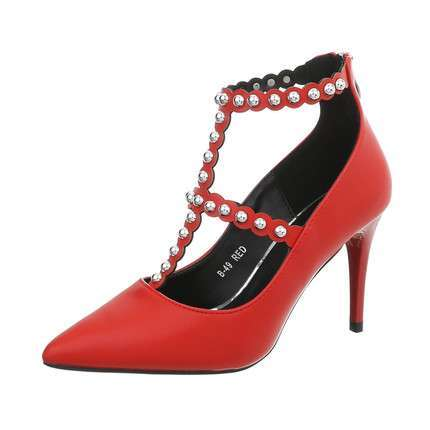 Damen High Heels Pumps - red