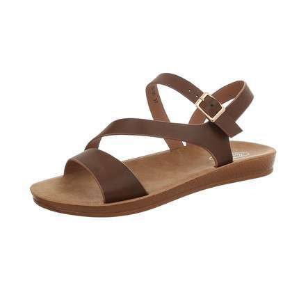 Damen Flache Sandalen - brown