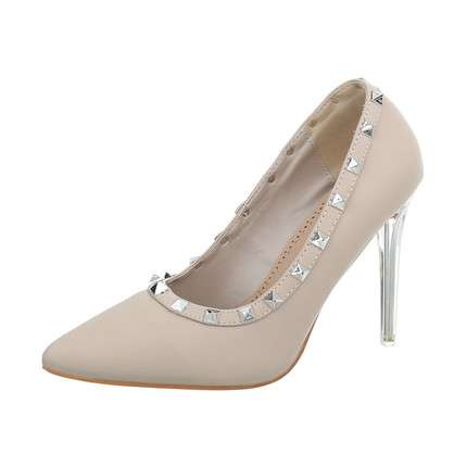 Damen High Heels Pumps - apricot