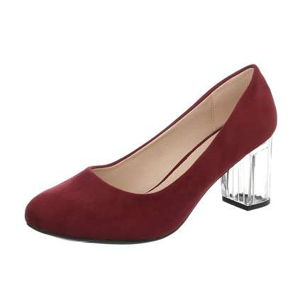 Damen High Heels Pumps - burgundy