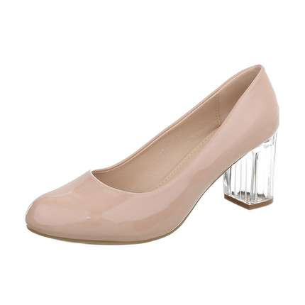 Damen High Heels Pumps - nude