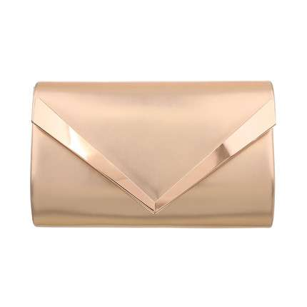 Damen Clutch-champagne