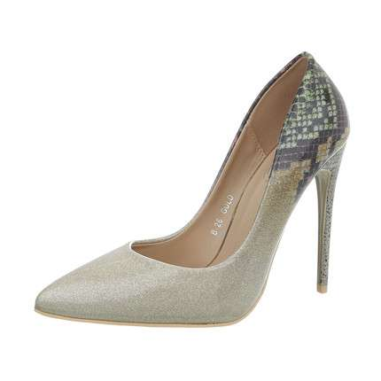 Damen High Heels Pumps - gold