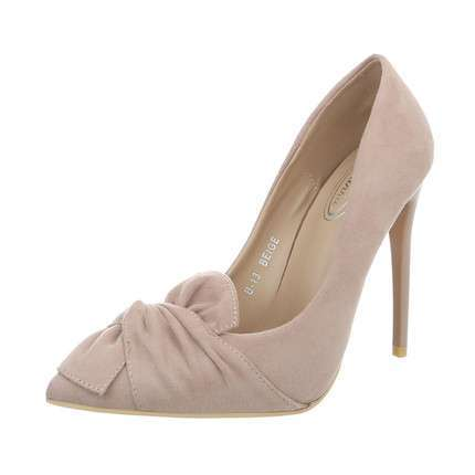 Damen High Heels Pumps - beige