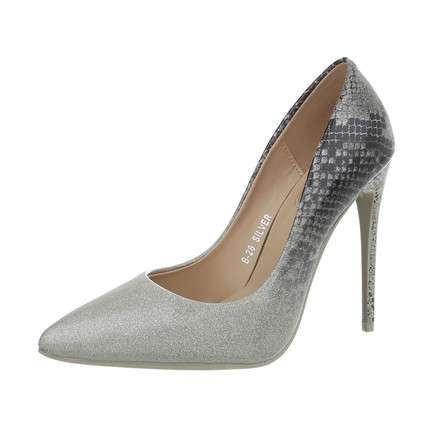 Damen High Heels Pumps - silver