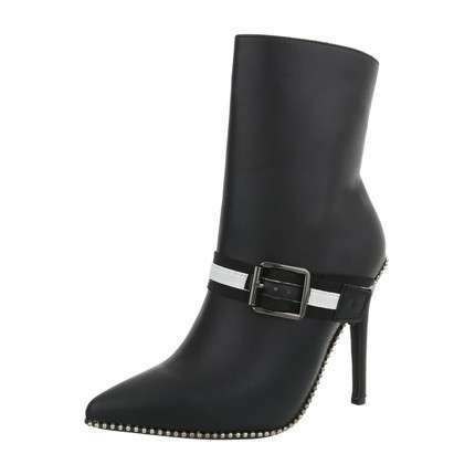 Damen High Heel Stiefeletten - black