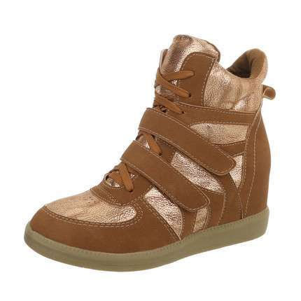 Damen Sneakers high - camel