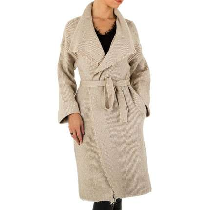 Damen Strickjacke Gr. one size - beige