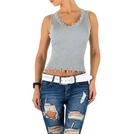 Damen Top - grey