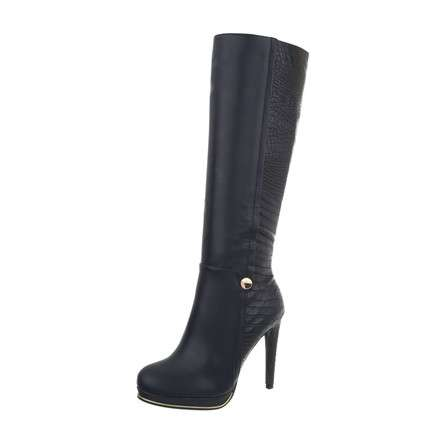 Damen High Heel Stiefel - blue