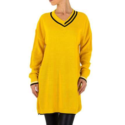 Damen Pullover von Milas Gr. one size - yellow