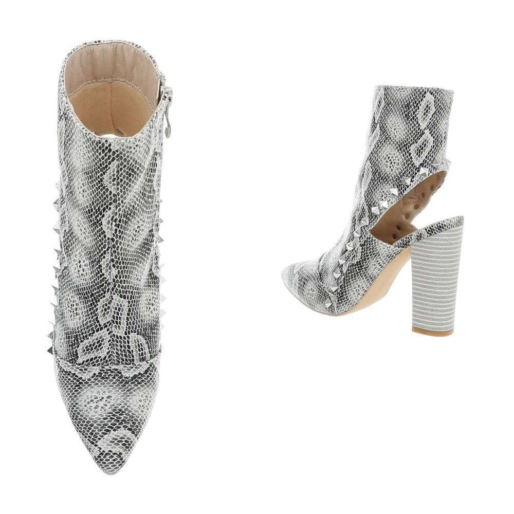 Cizme pentru femei cu toc înalt - șarpe - image 3