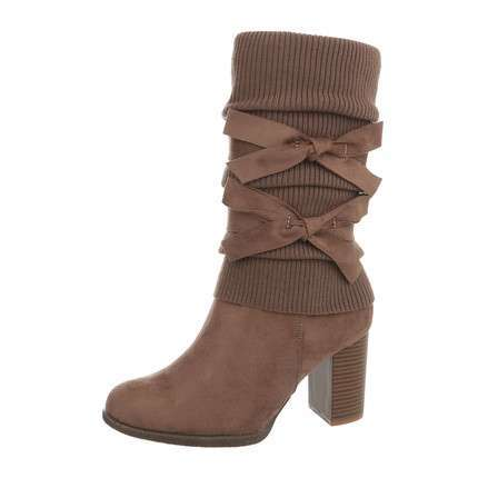 Damen High Heel Stiefel - khaki