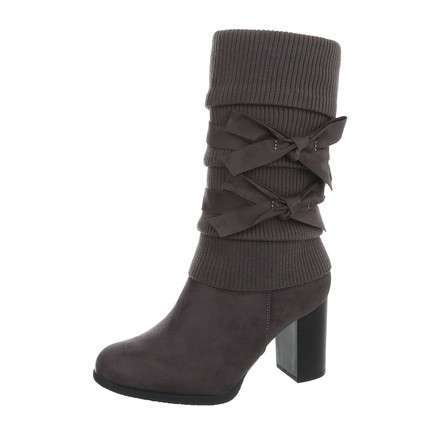 Damen High Heel Stiefel - grey