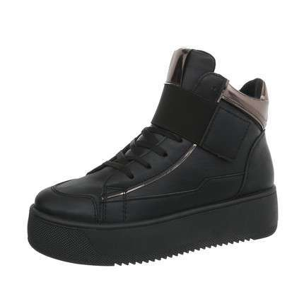 Damen Sneakers high - black