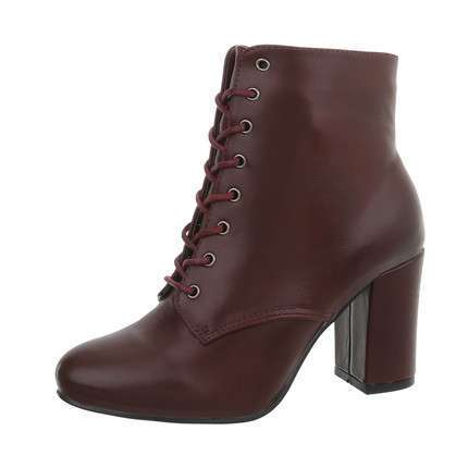 Damen High-Heel Stiefeletten - winered