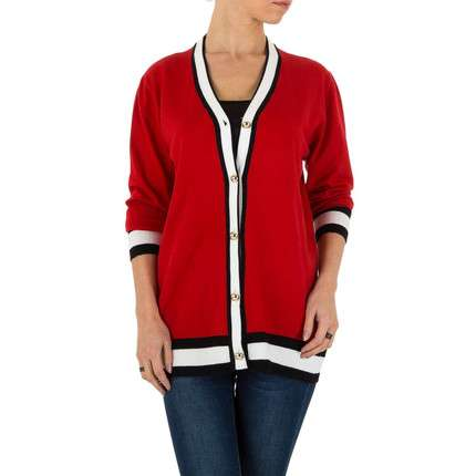 Damen Strickjacke Gr. one size - red