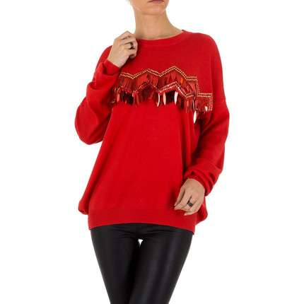 Damen Pullover Gr. one size - red