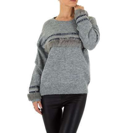 Damen Pullover Gr. one size - grey