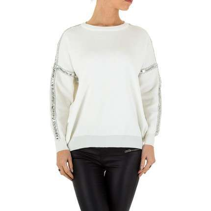 Damen Pullover Gr. one size - white