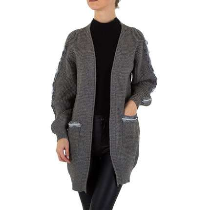 Damen Strickjacke Gr. one size - grey