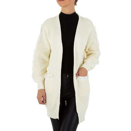 Damen Strickjacke Gr. one size - white