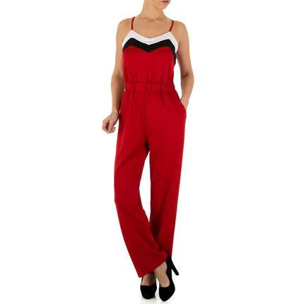 Damen Overall - red