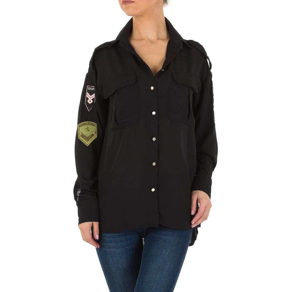 Bluză de cămașă pentru femei de la Emmash - neagră - image 1