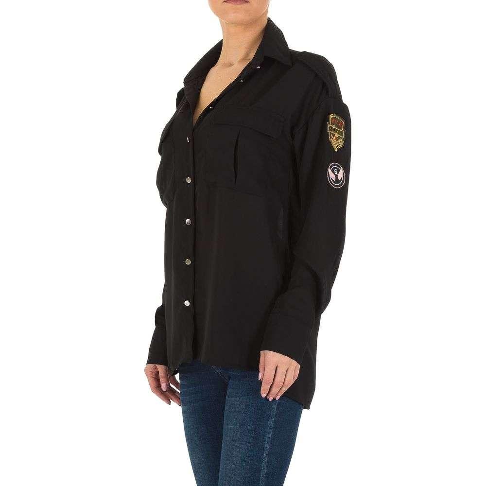 Bluză de cămașă pentru femei de la Emmash - neagră - image 2
