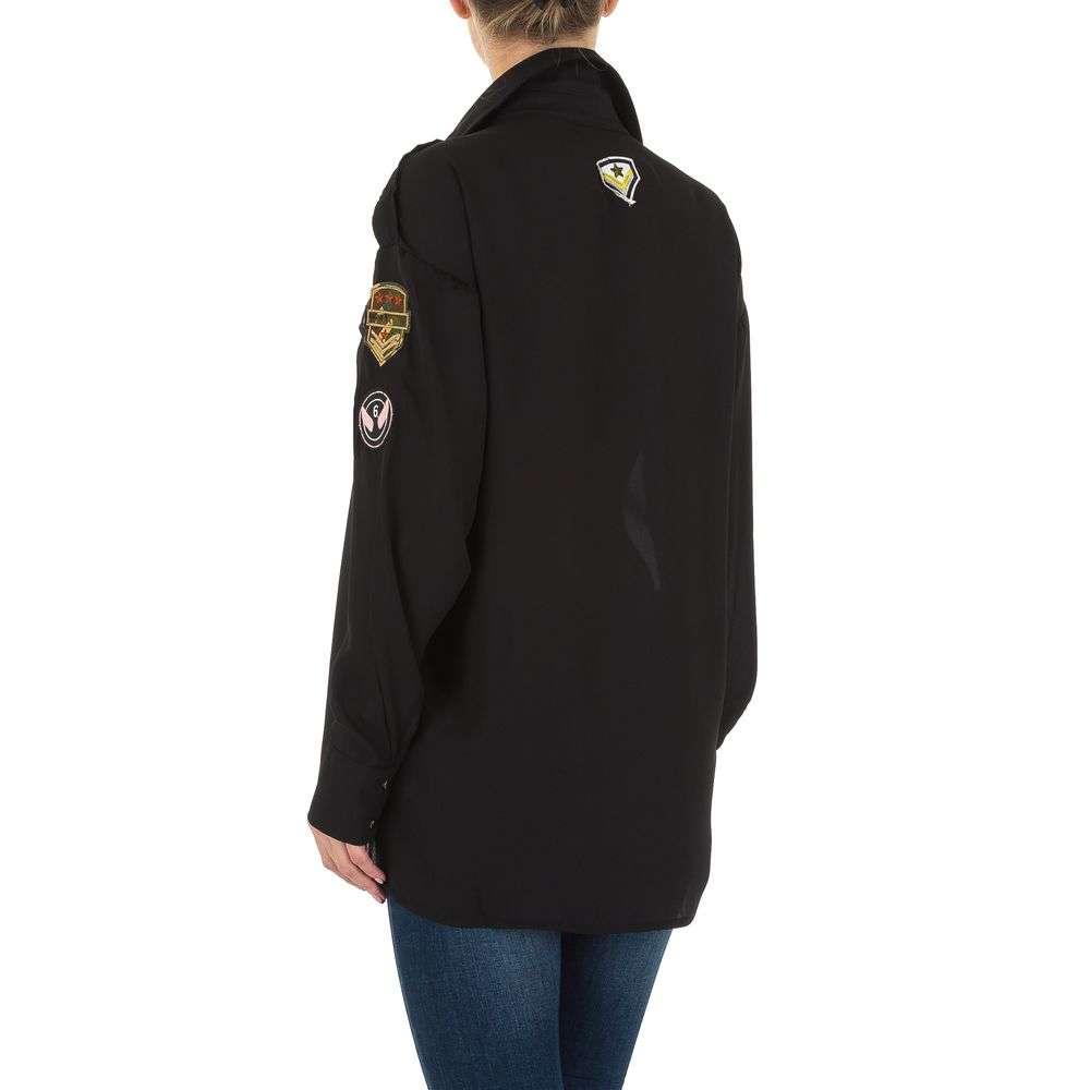 Bluză de cămașă pentru femei de la Emmash - neagră - image 3