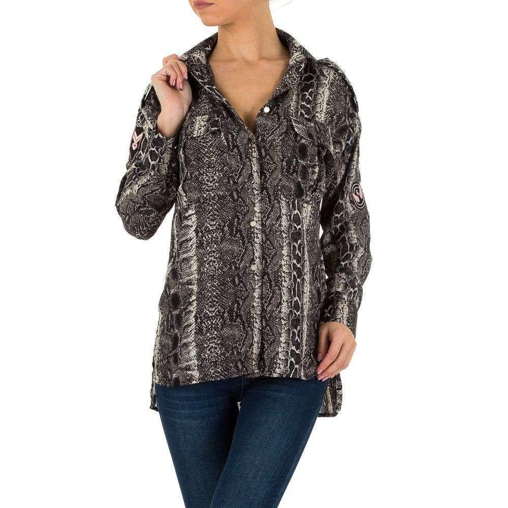Bluză de cămașă pentru femei de la Emmash - gri