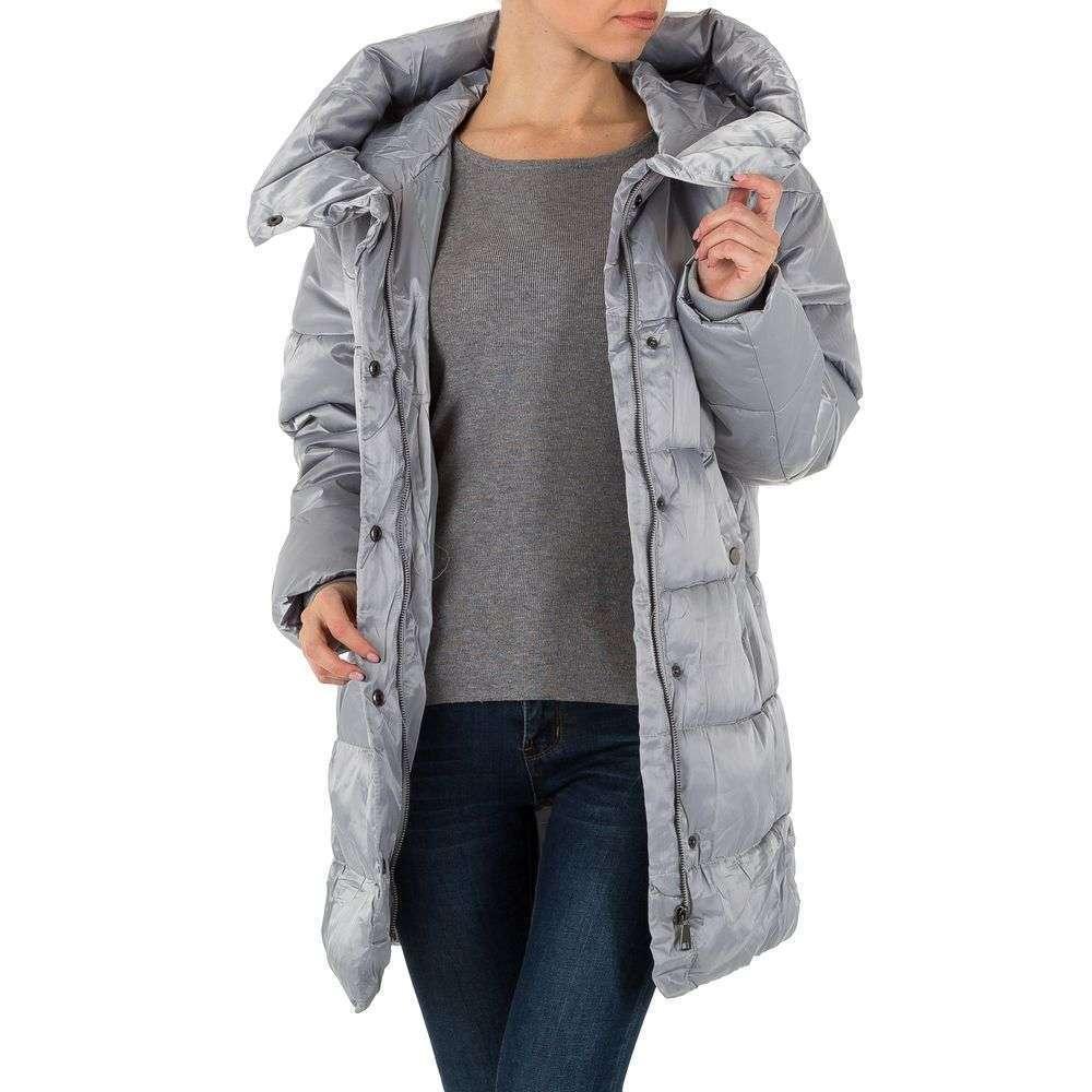 Palton pentru femei - gri - image 4