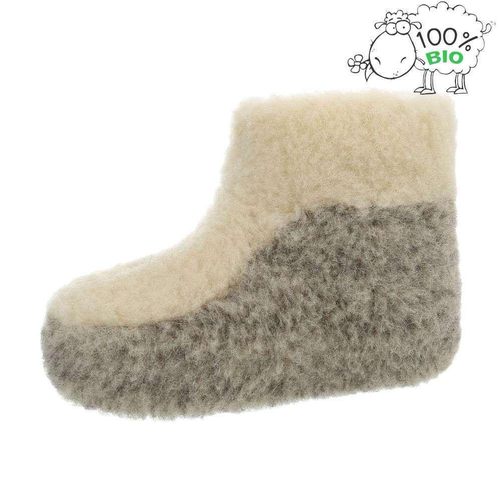 Papuci de miel ecologici pentru femei - alb-gri