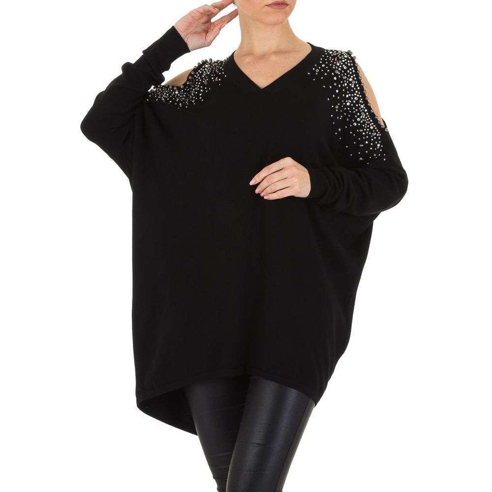Pulover de dama de Voyelles Gr. O singură mărime - negru