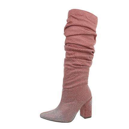 Damen High-Heel Stiefel - pink