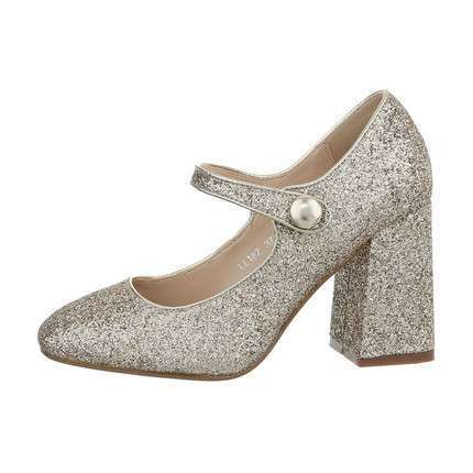 Damen High-Heel Pumps - gold