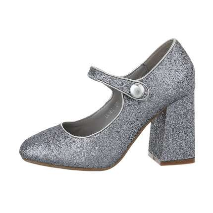 Damen High-Heel Pumps - pewter