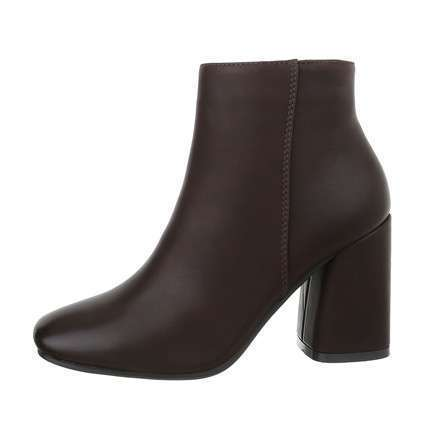 Damen High-Heel Stiefeletten - brown