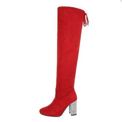 Damen Overknee-Stiefel - red