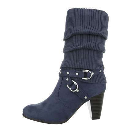 Damen High-Heel Stiefel - blue