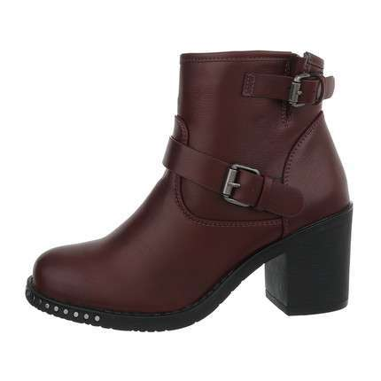 Damen High-Heel Stiefeletten - wine