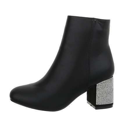 Damen High-Heel Stiefeletten - nero