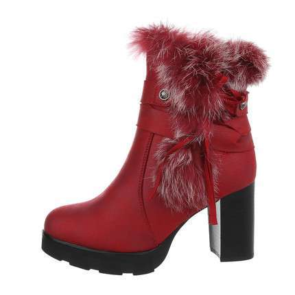 Damen High-Heel Stiefeletten - burgundy